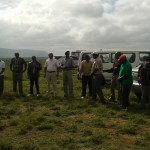 Moments of brief introductions before embarking on the tree planting exercise that morning