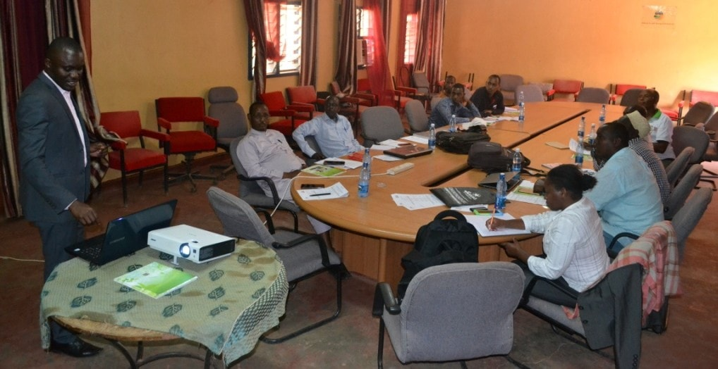 Mr. Milton, Green Africa Foundation leading a discussion with stakeholders in Mandera County.